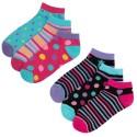 Lot de 6 paires de chaussettes socquettes enfant