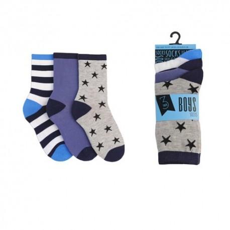Lot de 3 paires de chaussettes pour garçon