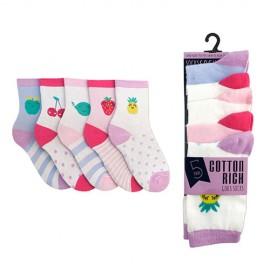 chaussettes pour fille motif fruit rigolo