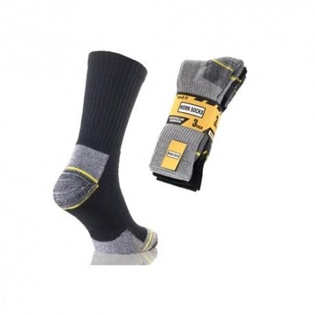 Lot de 3 paires de chaussettes renforcées pour travail WORKER