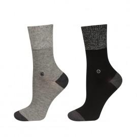 Lot de 2 paires de chaussettes fil d'argent