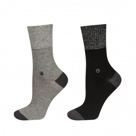 chaussettes feminines fil d'argent