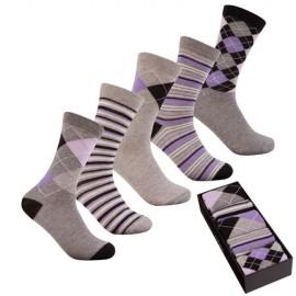 Coffret 5 paires de chaussettes cotton