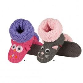Chaussons chauds anti-dérapants pour enfants