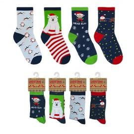 Lot de 4 paires de chaussettes noel