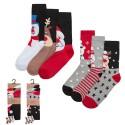 Lot de 6 paires de chaussettes noël