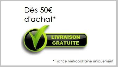 Livraison gratuite à partir de 50 euros d'achat